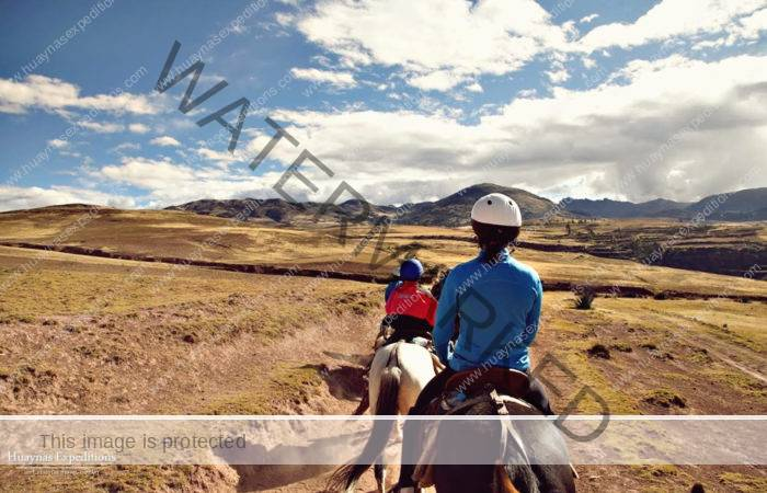 Horseback riding in huaypo, piuray and maras moray